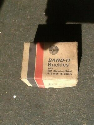 Box Of 100 New Band-it C255 EDP 13255 201ss Buckles 5/8""
