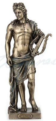 Apollo Holding Lyre Statue Greek God Sculpture Figurine - HOME DECOR