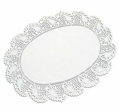 Doilies Oval 27 x 36 cm White 250 Cake Doilies Cake Top Cake Paper