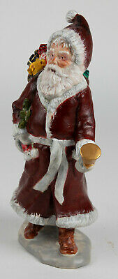 Hand-Painted Classic Santa Figurine With Bell and Toy Bag (Artist Unknown)