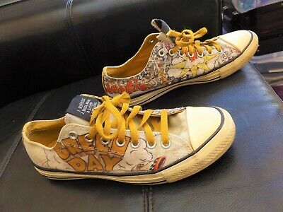 VERY RARE GREEN Day Dookie Converse All Star Chuck Taylor