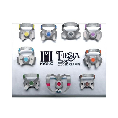 Coltene Whaledent H09966 Fiesta 9 Color Coded Winged Clamp Pak Set