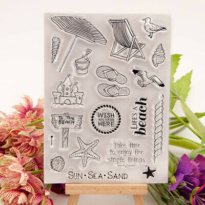 Clear stamps Sea Travel to beach rubber Silicone stamp Scrapbooking craft DIY~GN