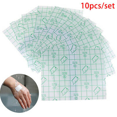 10Pcs 10*12cm Waterproof Transparent Adhesive Wound Dressing Plaster Stretch  GN