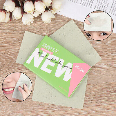 100pcs Facial Oil Control Papers Wipes Sheets Absorbing Face Clean Green tea~GN