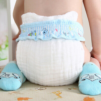 10Layers Cloth Cotton Baby Inserts Nappy Liners Diapers Washable Super Reus V5U6