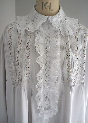 Antique French whitework and lacenightgown / shirt