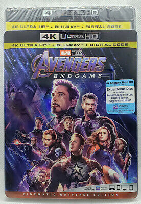 Disney Marvel Avengers Endgame 4K + Bluray + Slipcover - No Digital Code