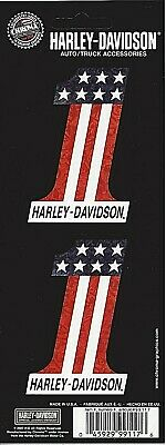 Harley-Davidson #1 American Flag  Decals / Sticker *Free Shipping