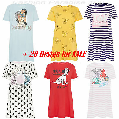 Ladies DISNEY Nightshirt Pyjamas Women's Girls Nightie Nightdress 6 - 24 Primark