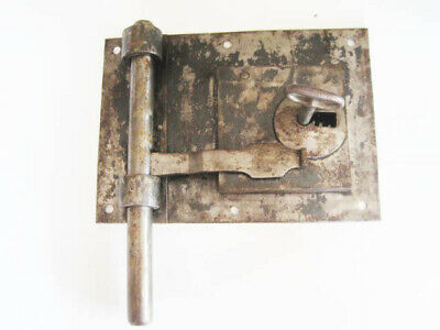 Antique French Jail Lock, Prison Lock Working key and lock Detention un-restored