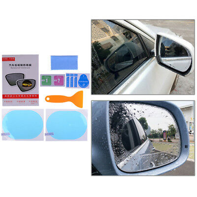 2Pcs rainproof car rearview mirror sticker anti-fog protective film rain shi~GN