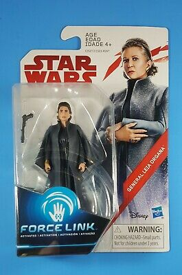 "GENERAL LEIA ORGANA Star Wars The Last Jedi Force Link Action Figure 3.75"" MOC"