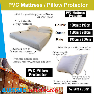 PVC Mattress / Pillow Protector Dust Cover Packaging Protect Covers Zip Closure