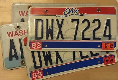 Pack of 4 Craft Condition License Plates for Art Projects