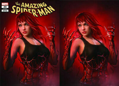 Amazing Spiderman #30 Carnage ized Shannon Maer Virgin Variant and Trade Set