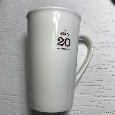 starbucks 20 oz coffee mug White Tall Mug Venti