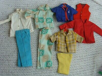 Vintage Ken Doll Clothing LOT Handmade Tailored 1960's Excellent Detail & Cond