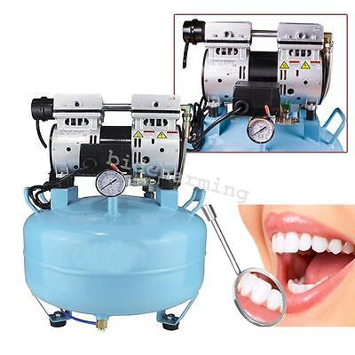 CE Medical Noiseless Silent Oilless Air Compressor 550W 130L/min F Dental Chair