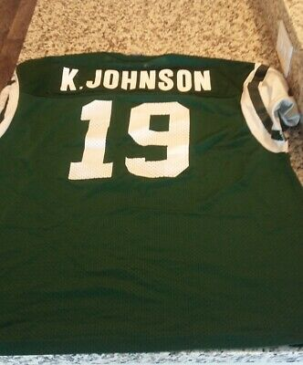 NFL New York Jets Keyshawn Johnson Champion Jersey Size 48 Ex USC Trojan