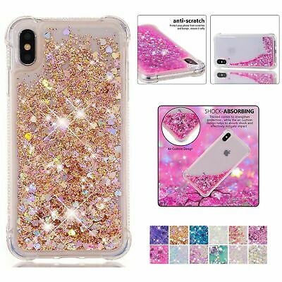 For iPhone  8 7 6s Plus XS MAX XR Liquid Glitter Quicksand Soft TPU Case Cover