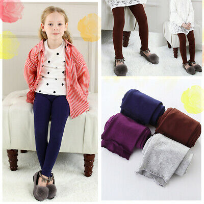 Girl Leggings Children Kids Girls Plain Cotton Thick Full Length Leggings Pants
