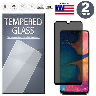 For Samsung Galaxy A10e Privacy Tempered Glass Screen Protector [2-Pack]