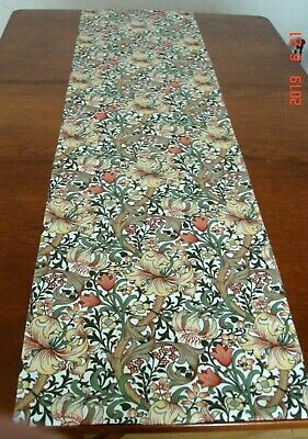 New Sanderson Golden Lily Minor William Morris Design Fabric Lined Table Runner