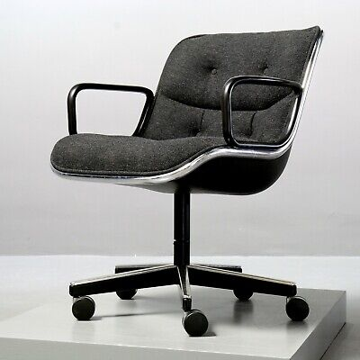 Executive Chair von Charles Pollock für Knoll International Anthrazit Sessel