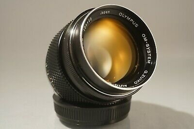 *FAST* OLYMPUS G. ZUIKO OM 55mm f 1.2 LENS. WITH HOOD, FILTERS & SONY E ADAPTER