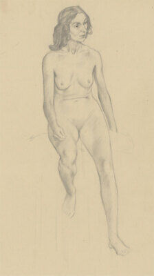 Clifford H. Thompson (1926-2017) - Graphite Drawing, Female Nude