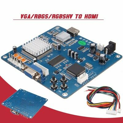 RGBS/RGBHV/CGA/EGA/VGA To HDMI Arcade Game Video Output Converter Output Board
