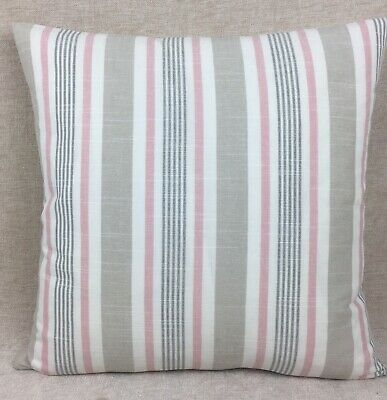 Vintage//Shabby Chic Clarke and Clarke Blomma Summer Red fabric Cushion Cover