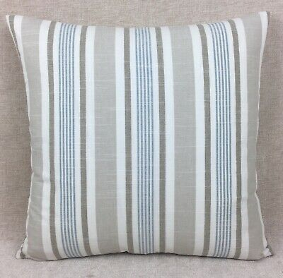 Vintage//Shabby Chic Clarke and Clarke Reef Mineral Beige fabric Cushion Cover