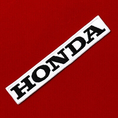 "5.0""x1 pc. black honda racing big bike motogp embroidered iron on sew patch"