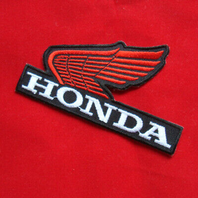 "4.00""x1 pc. red honda wing racing big bike motogp embroidered iron on sew patch"