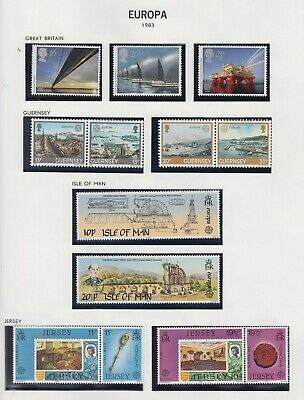 EUROPA - 1954-1989 Well filled DAVO printed - 9847