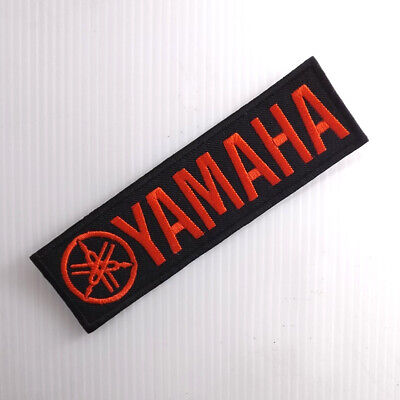 "5.0""x1 pc. yamaha red logo emblem racing bike embroidered iron on sew patch"