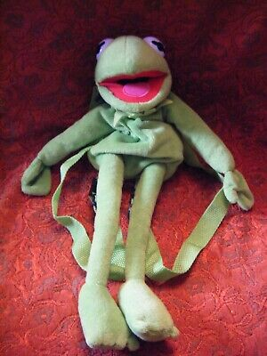 """Disney The Muppets Kermit The Frog Childs Backpack Bag 17"""" long approx VGC (B42"""
