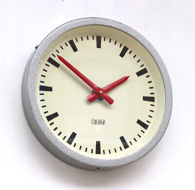 EAST GERMAN1970s Midcentury Factory Retro Vintage Industrial Wall Clock
