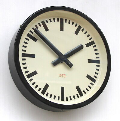 EAST GERMAN 1950 /1960s Midcentury Factory Retro Vintage Industrial Wall Clock