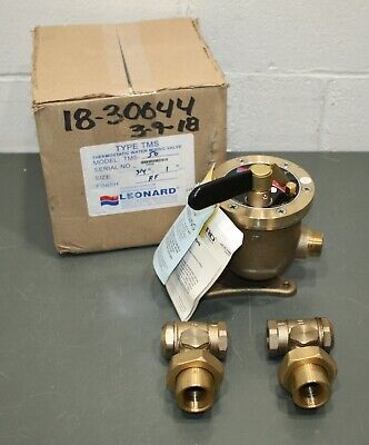 Leonard Thermostatic Steam/Water Mixing Valve TMS-50-RF, Lead Free Bronze, 80PSI