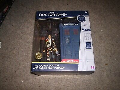 BBC-Doctor Who The Fourth Dr and Tardis From SHADA - Collector Figure Set