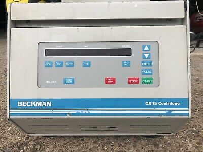 Beckman GS-15 Bench-top Swing Bucket Centrifuge medical laboratory lab equipment