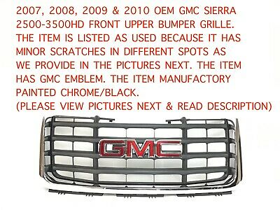 NEW 2007-2010 FITS GMC SIERRA 2500 HD FRONT GRILLE ASSEMBLY GM1200613 25825523