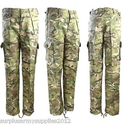 Boys Camouflage Army Trousers Age 3-13 Cadet Kids Soldier Outfit Mtp Btp Camo