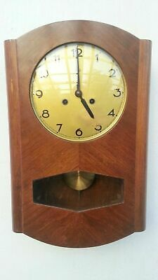 Vintage Antique German Doldonia Pendulum Wall Clock Regulator With Triple Chimes