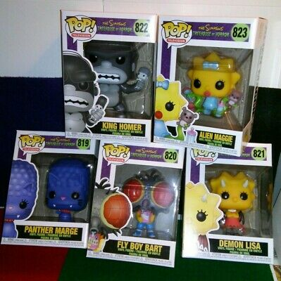 Funko Pop *In Hand*The Simpsons Treehouse Of Horror - Set of 5 + FREE Protectors