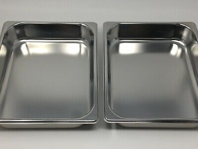 Lot 2 New Stainless Steel Metal Sterilization Trays Medical Surgical OR