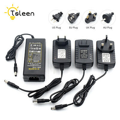 For LED RGB Strip Lights CCTV AC100V-240V DC12V 2A 5A Power Charger Adapter D79